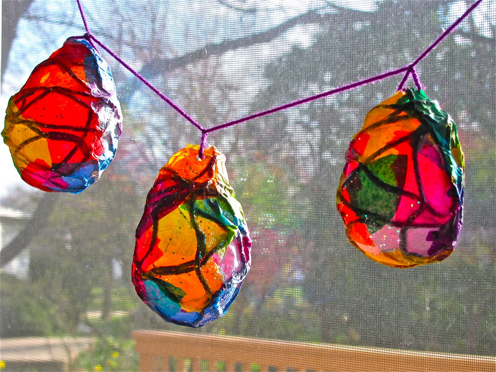 Lanterns to lighten the world galloway friends for Papier mache lanterns